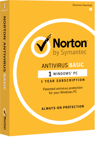 Basic Antivirus for Windows by Norton™ - 1 Year Subscription
