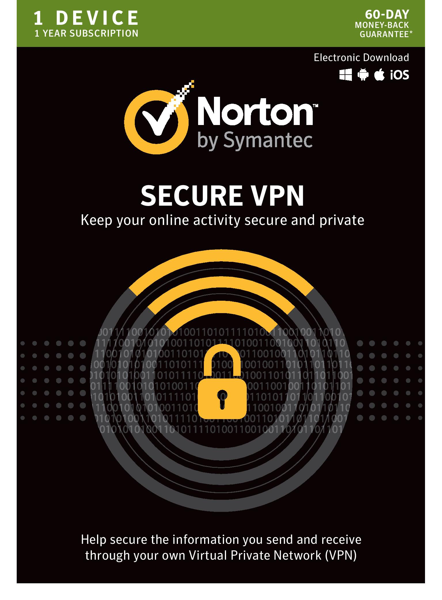 Norton WiFi Privacy VPN - 1 Device